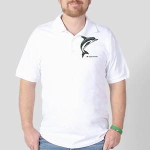 I Love Dolphins Golf Shirt