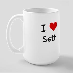 I LOVE SETH Large Mug