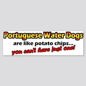 Potato Chips Portuguese Water Dog Bumper Sticker