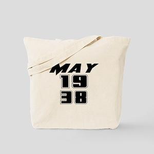 May 1938 Birthday Tote Bag