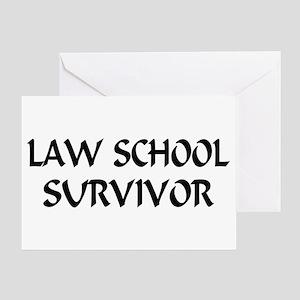 Law School Survivor Greeting Card