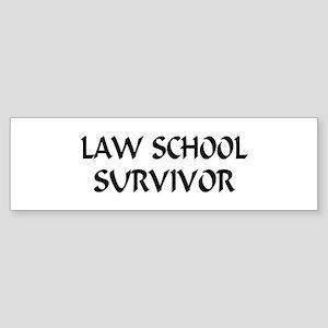 Law School Survivor Bumper Sticker