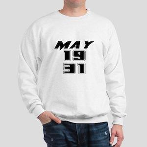 May 1931 Birthday Sweatshirt