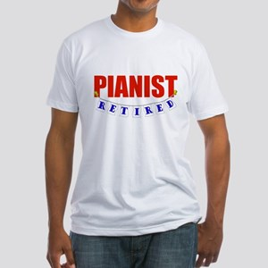 Retired Pianist Fitted T-Shirt