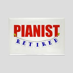 Retired Pianist Rectangle Magnet