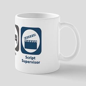 Eat Sleep Script Supervisor Mug