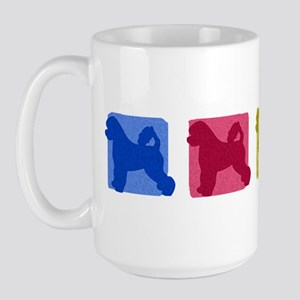 Color Row Portuguese Water Dog Large Mug