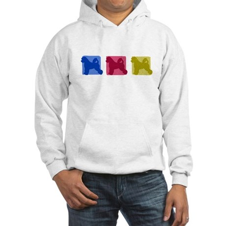 Color Row Portuguese Water Dog Hooded Sweatshirt