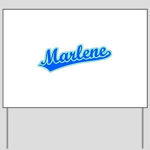 Retro Marlene (Blue) Yard Sign