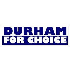 Durham For Choice (bumper sticker)