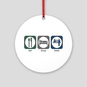 Eat Sleep Sales Ornament (Round)