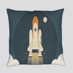 Spaceship Launch Everyday Pillow