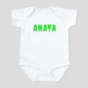 Amaya Faded (Green) Infant Bodysuit