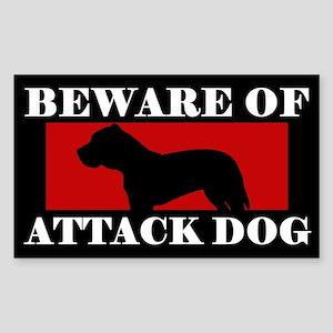 Beware of Attack Dog Presa Canario Sticker
