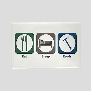 Eat Sleep Roofs Rectangle Magnet