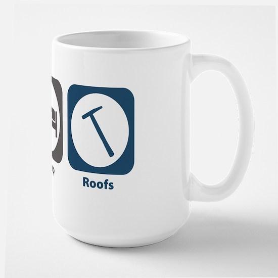Eat Sleep Roofs Large Mug