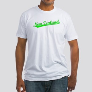 Retro New Zealand (Green) Fitted T-Shirt