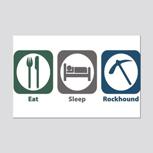 Eat Sleep Rockhound Mini Poster Print