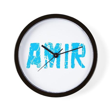 Amir Faded (Blue) Wall Clock