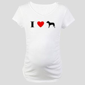 I Heart Canary Dog Maternity T-Shirt