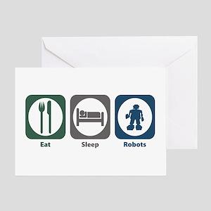 Eat Sleep Robots Greeting Card