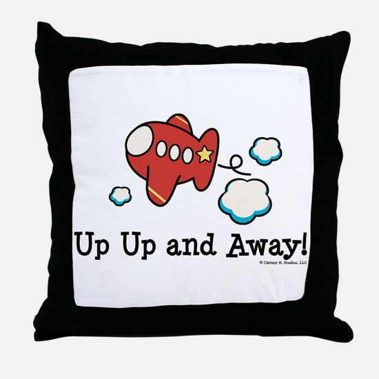 Up Up and Away Airplane Throw Pillow