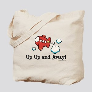 Up Up and Away Airplane Tote Bag