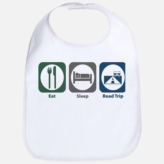 Eat Sleep Road Trip Bib