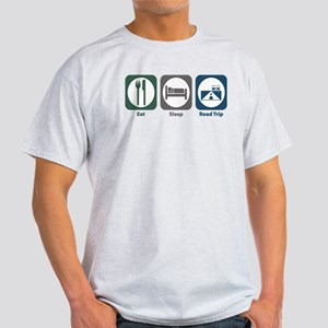 Eat Sleep Road Trip Light T-Shirt