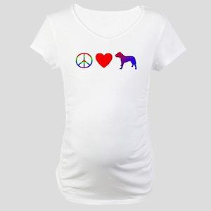 Peace Love Presa Canario Maternity T-Shirt