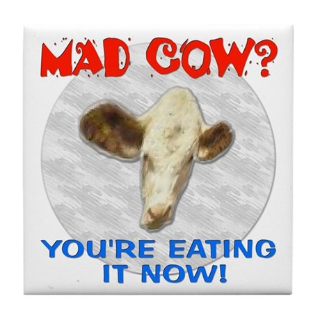 Mad Cow Now Tile Coaster