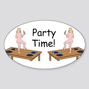 Party Gal Oval Sticker