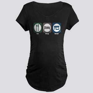 Eat Sleep Retail Maternity Dark T-Shirt