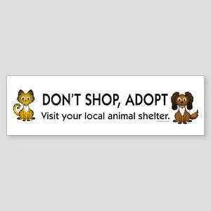 Don't Shop, Adopt Bumper Sticker (10 pk)