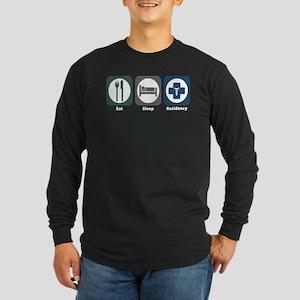 Eat Sleep Residency Long Sleeve Dark T-Shirt