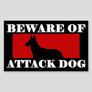 Beware of Attack Dog Malinois Sticker