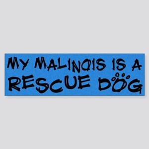 Rescue Dog Malinois Bumper Sticker