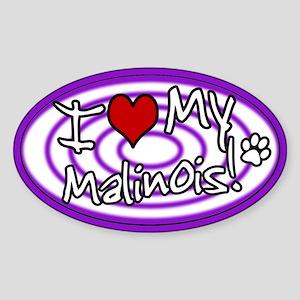 Hypno I Love My Malinois Sticker (Purple)
