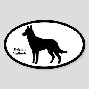 Belgian Malinois Silhouette Sticker (Euro Style)