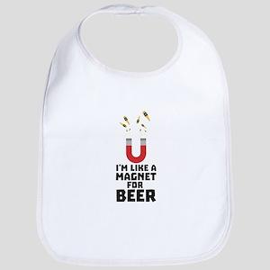 Like a Beer Magnet Cuq5z Baby Bib