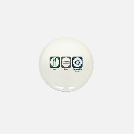 Eat Sleep Renewable Energy Mini Button