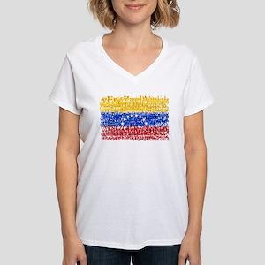 Textual Venezuela Women's V-Neck T-Shirt