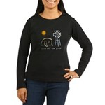 Live Off-Grid Women's Long Sleeve Dark T-Shirt