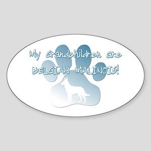 Malinois Grandchildren Oval Sticker