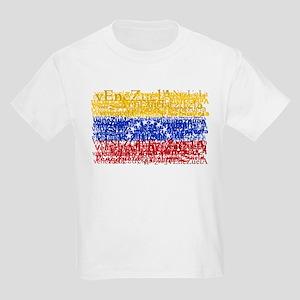 Textual Venezuela Kids Light T-Shirt
