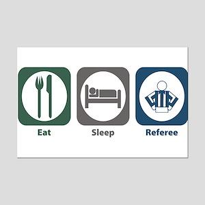 Eat Sleep Referee Mini Poster Print