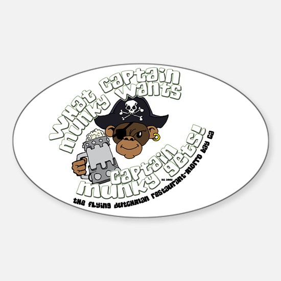 Captain Munky's Oval Decal