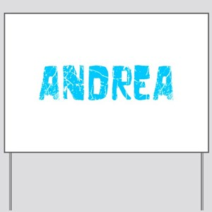 Andrea Faded (Blue) Yard Sign