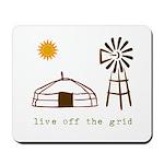 Live Off-Grid Mousepad