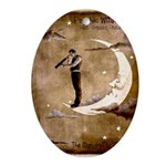 Psychic Wizardry, Man on the Moon Print Oval Ornam